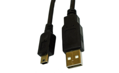 USB A to mini-B cable